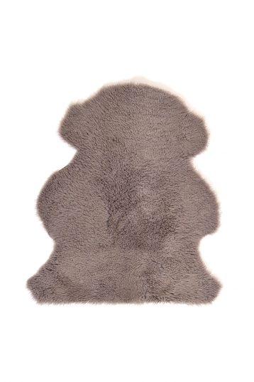 Medium Teddy Merino Sheepskin Rug in Taupe cut out