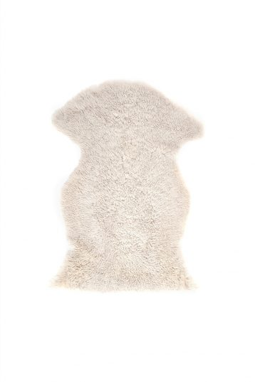 Medium Teddy Merino Sheepskin Rug in White cut out