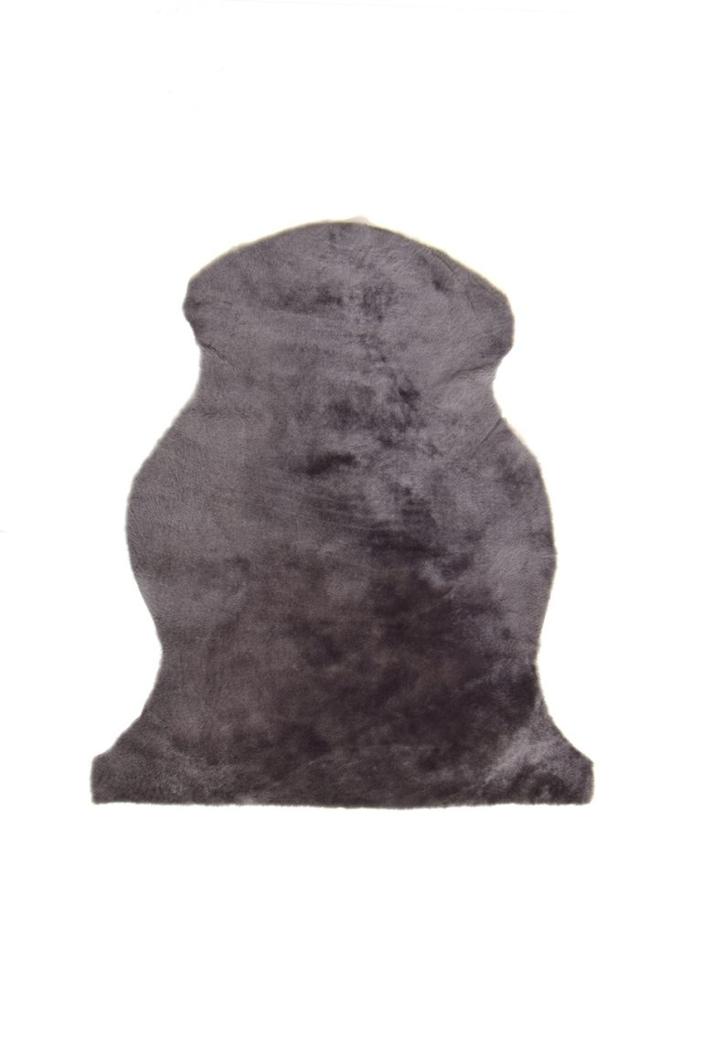 Medium Merino Sheepskin Rug in Grey cut out