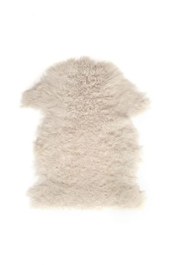 Small Curly Toscana Sheepskin Rug in Beige | Homewear | Gushlow & Cole cut out