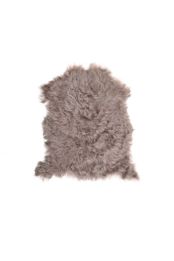 Small Curly Toscana Sheepskin Rug in Taupe cut out