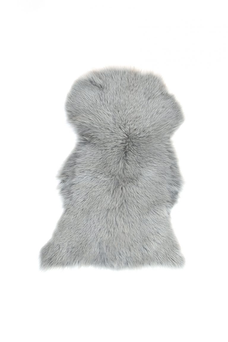Small Toscana Sheepskin Rug in Celedon Green cut out