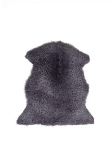 Small Toscana Sheepskin Rug in Dark Grey cut out
