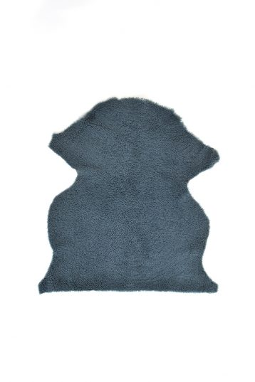 Small Teddy Merinillo Sheepskin Rug in Spruce Green cut out