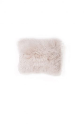 Small Toscana Sheepskin Cushion in White cut out