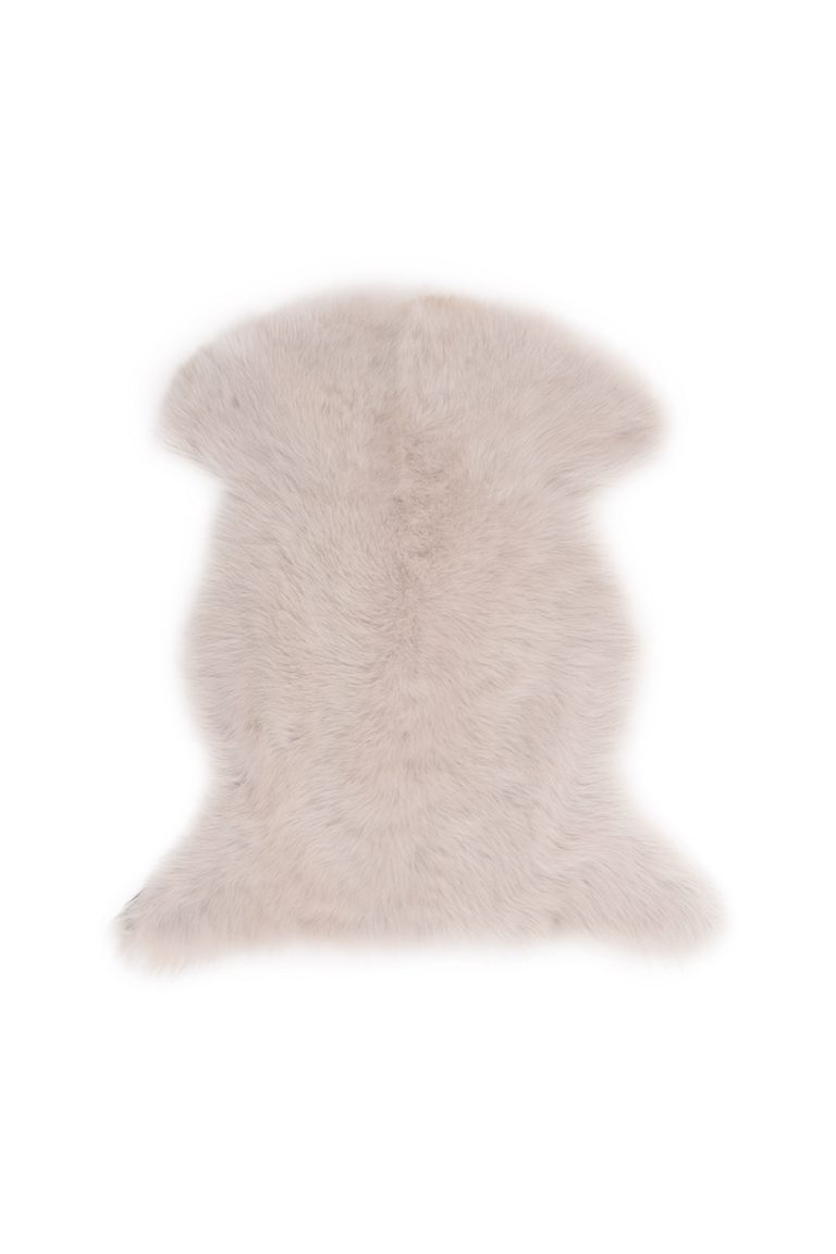 Small Toscana Sheepskin Rug in White cut out