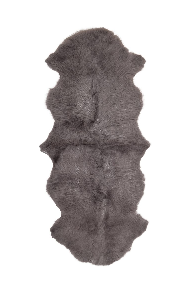 Double Toscana Sheepskin Rug in Taupe cut out