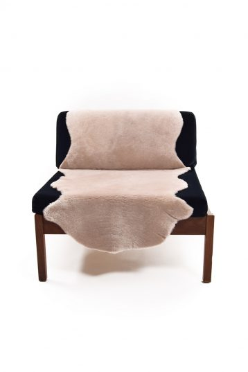 Double Merino Sheepskin Rug in Beige front