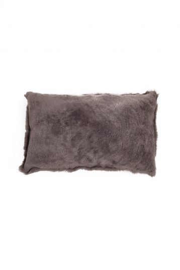 Large Toscana Sheepskin Cushion in Taupe cut out back